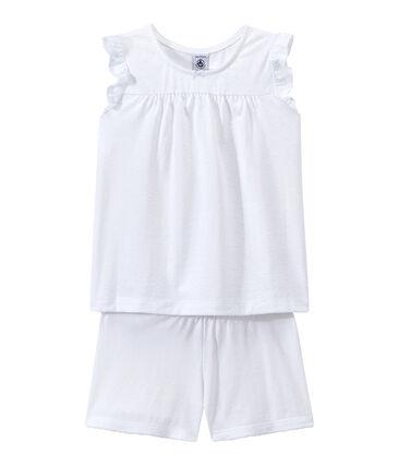 Pijama corto de algodón fino para chica