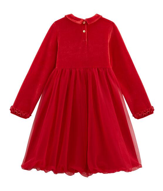 Vestido de niña rojo Terkuit