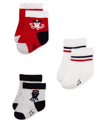 Lote de 3 pares de calcetines para bebé niño  44672971421