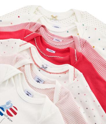 Bolsita sorpresa de 7 bodis de manga larga para bebé niña
