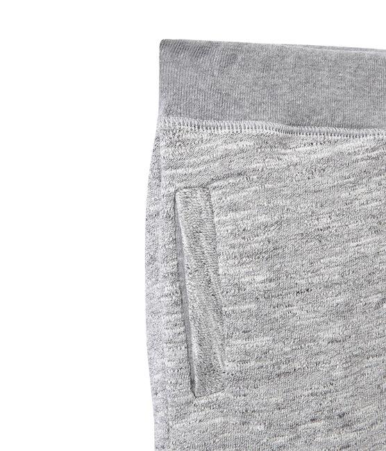 Pantalón en jersey tupido para niño gris Gris