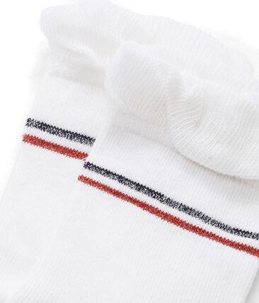 Calcetines infantiles para niña blanco Marshmallow