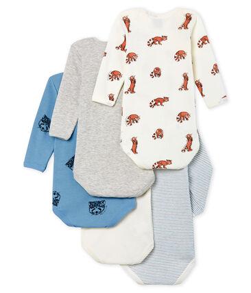 Juego de 5 bodis de manga larga para bebé niño