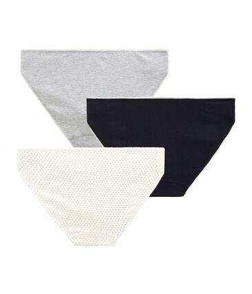 Tres braguitas de algodón stretch para niña