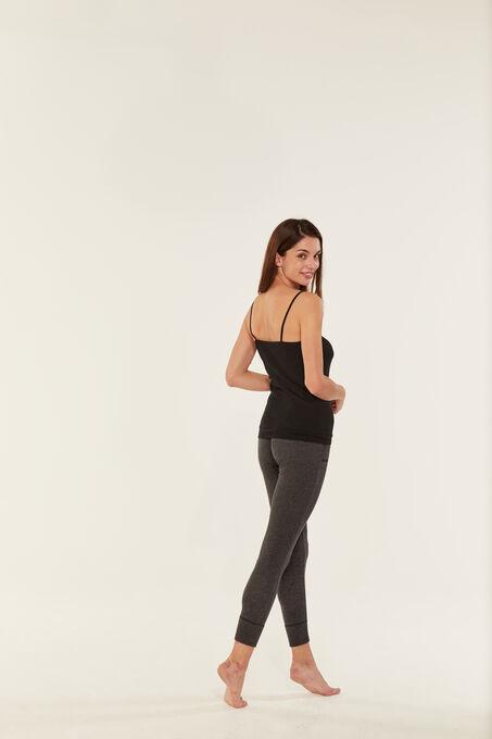 Camisa de tirantes de algodón ligero para mujer negro Noir
