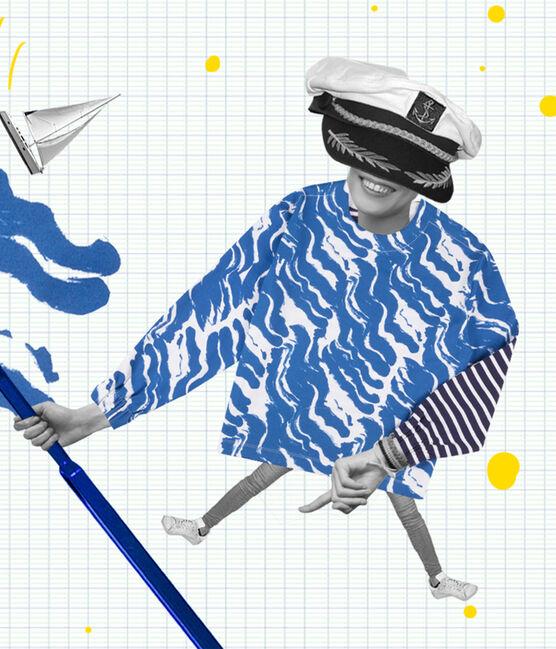 Marinera reedición Hyères de mujer blanco Ecume / azul Bleu