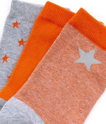 Juego de 3 pares de calcetines infantiles para niño