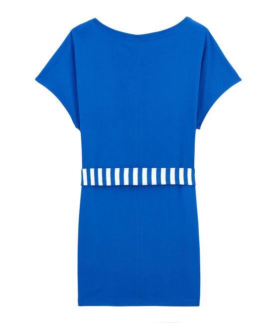 Camiseta de playa adulto azul Perse