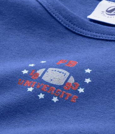 Camiseta de niño con un motivo estampado azul Peter