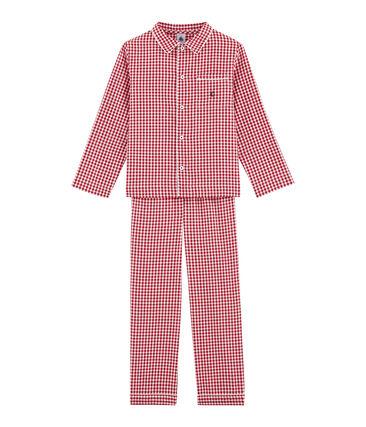 Pijama para niño a cuadros