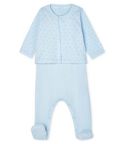 Conjunto para bebé de dos piezas de punto azul Fraicheur / azul Acier