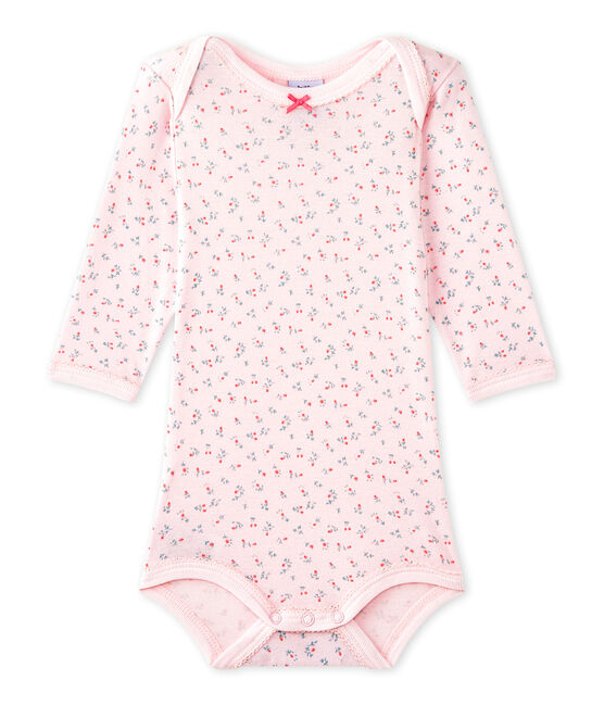 Body de manga larga estampado para bebé niña rosa Vienne / blanco Multico