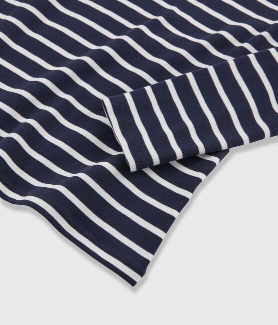 Cuello alto icónico para mujer azul Smoking / blanco Marshmallow