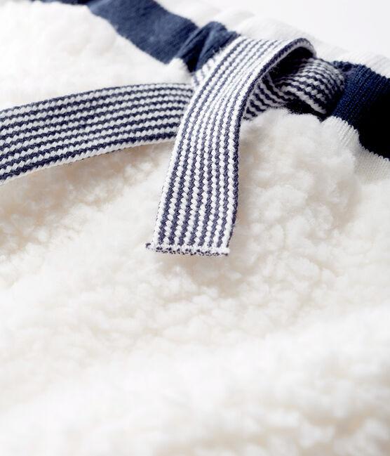 Pantalón de sherpa para bebé unisex blanco Marshmallow