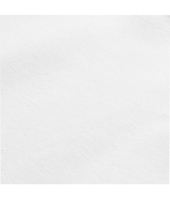 Baby short-sleeved plain cotton envelope-neck bodysuit blanco Ecume