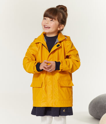Impermeable infantil unisex amarillo Boudor
