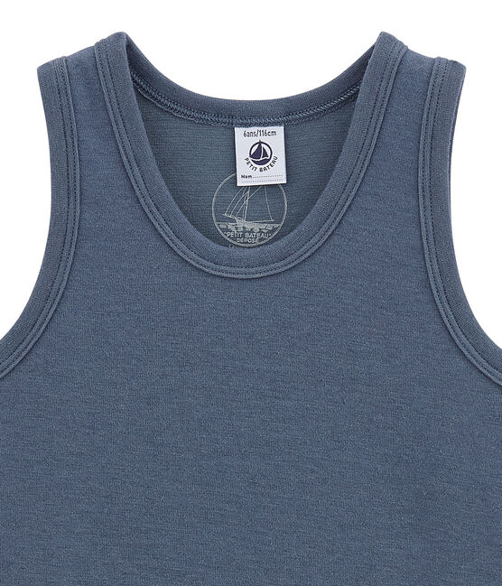 Camiseta sin mangas para niño azul Turquin