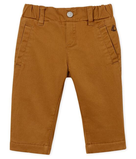Pantalón de bebé con forro polar para niño marrón Brindille