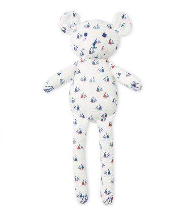 Doudou estampado para bebé niño blanco Lait / blanco Multico