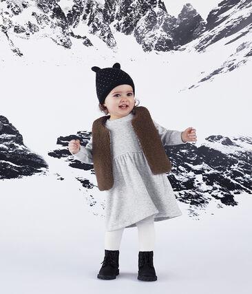 Gorro para bebé unisex con forro polar azul Smoking / blanco Marshmallow