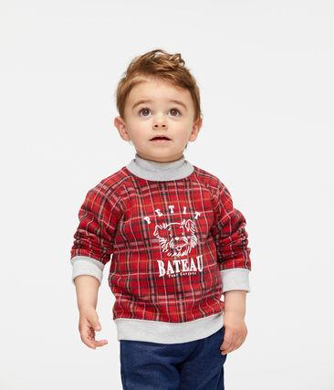 Sudadera de cuadros para bebé niño rojo Terkuit / blanco Multico