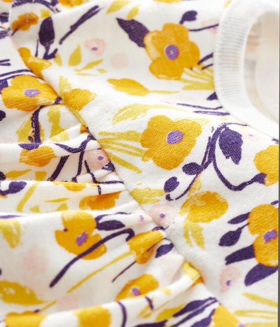 Blusa de manga corta para bebé niña blanco Marshmallow / blanco Multico