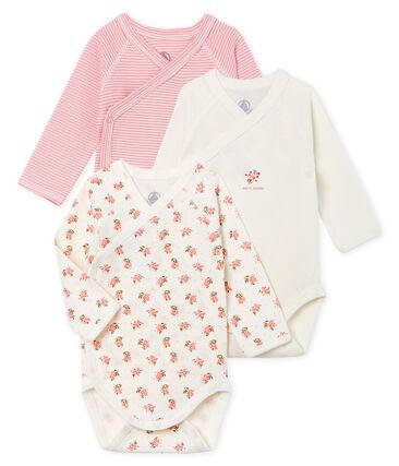 Tres bodis de nacimiento de manga larga para bebé