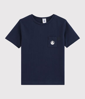 Camiseta de niño azul Smoking