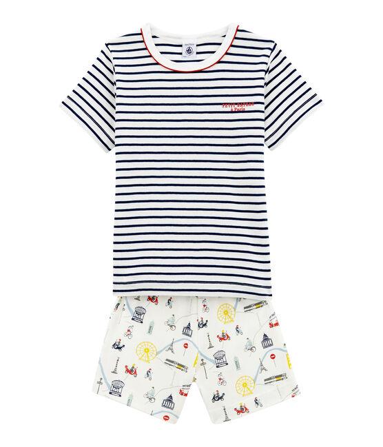 Pijama corto para niño blanco Marshmallow / blanco Multico