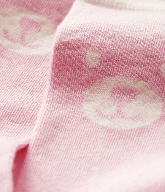 Calcetines altos para bebé rosa Minois / blanco Marshmallow
