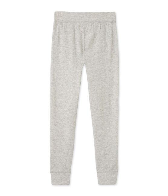 Pantalón para mujer en túbico extrafino chiné gris Beluga Chine