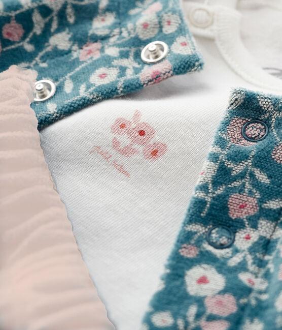Conjunto para bebé de 3 piezas de terciopelo y tejido acanalado MOZAIK/MULTICO