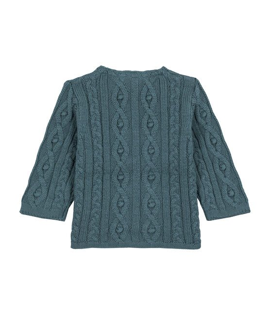 Cable-knit cardigan azul Atlantic