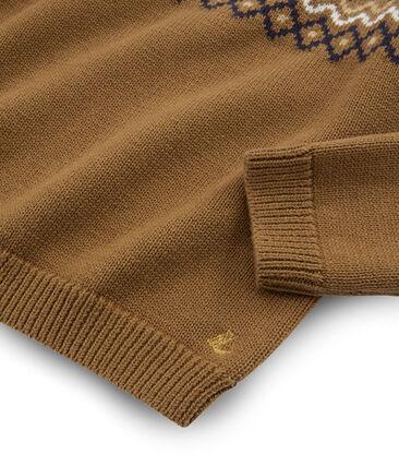 Jersey de niña marrón Brindille / blanco Multico