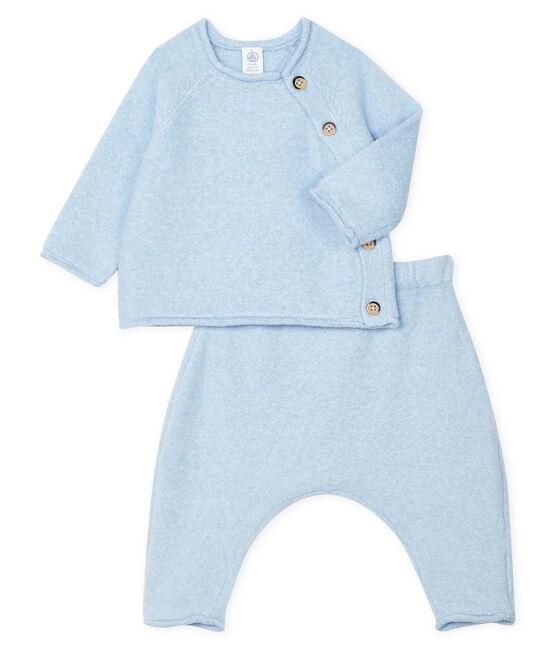 Conjunto de dos piezas para bebé niño, lana merinos y poliéster TOUDOU