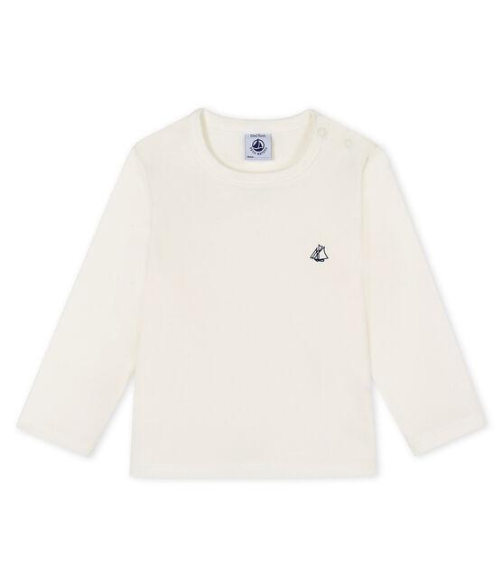 Camiseta de manga larga para bebé blanco Marshmallow