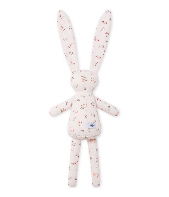 Doudou lapin bébé mixte imprimé rosa Vienne / blanco Multico