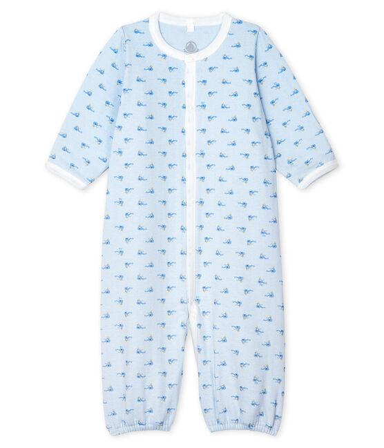 Mono-saco para bebé de punto azul Fraicheur / blanco Multico