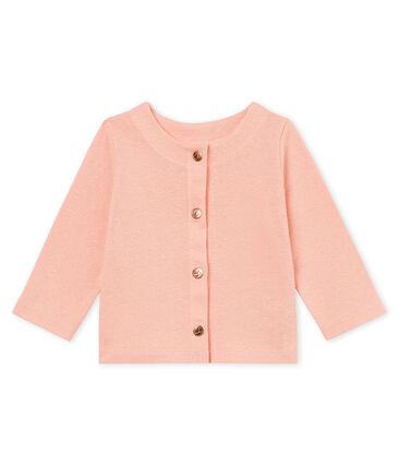 Cárdigan de algodón/lino para bebé niña