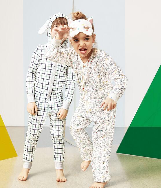 Buzo largo para niña pequeña blanco Marshmallow / blanco Multico