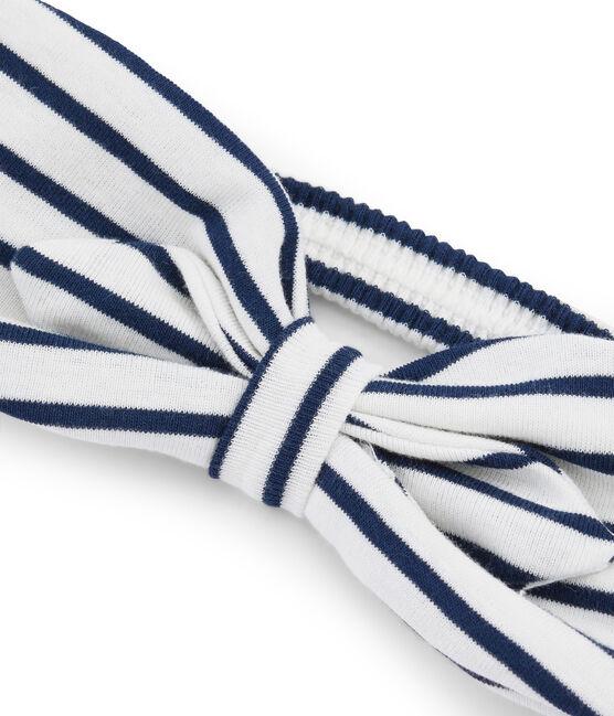 Cinta infantil para niña blanco Marshmallow / azul Smoking