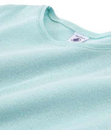Camiseta manga corta infantil para niña azul Crystal