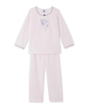 Pijama de terciopelo para niña