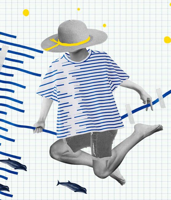 Marinera reedición Hyères de mujer blanco Ecume / azul Delft