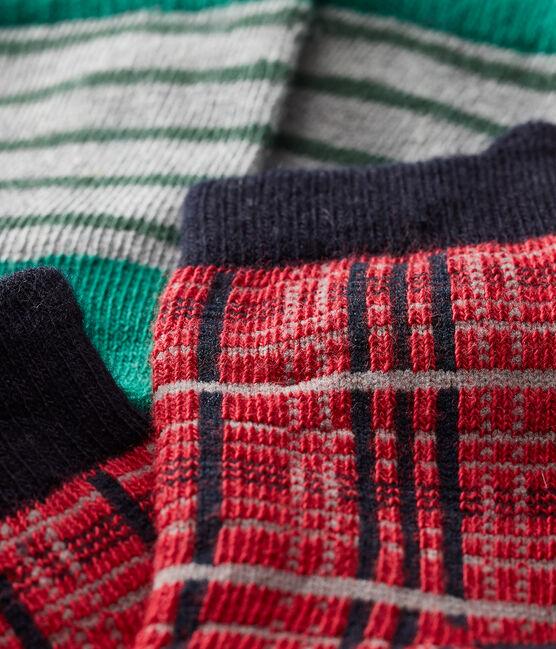 Lote de 2 pares de calcetines para bebé niño rojo Terkuit