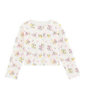 Cárdigan de niña blanco Marshmallow / blanco Multico