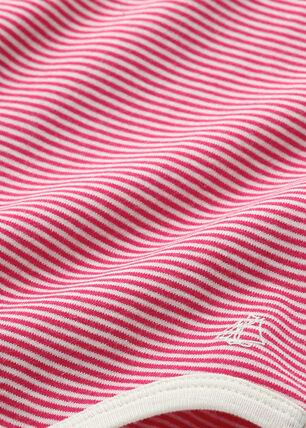 Body bebé de niña de milrayas rosa Flashy / beige Coquille