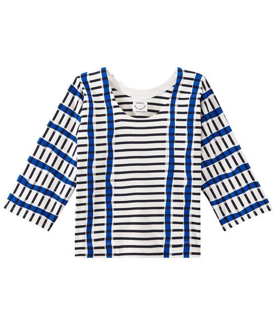 Marinera Kimono blanco Marshmallow / azul Smoking