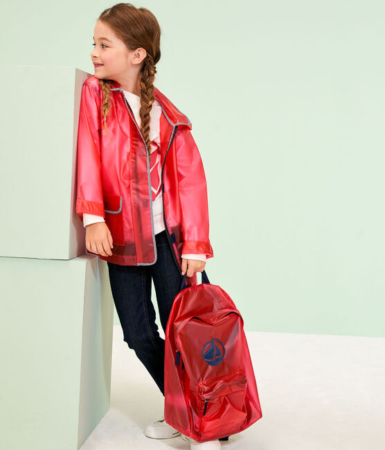 Chubasquero para niño y niña rosa Geisha