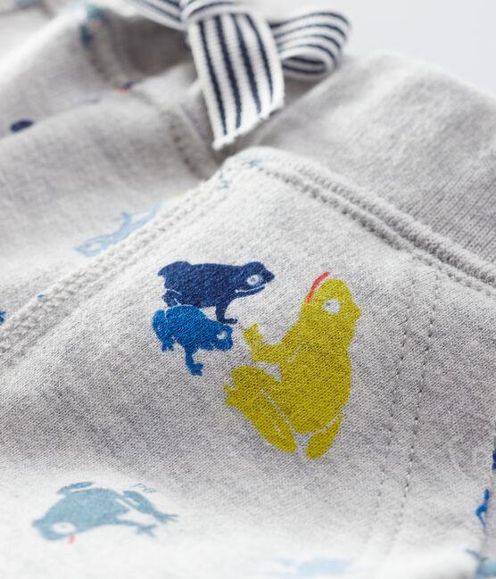 Pantalón estampado para bebé niño gris Beluga / blanco Multico